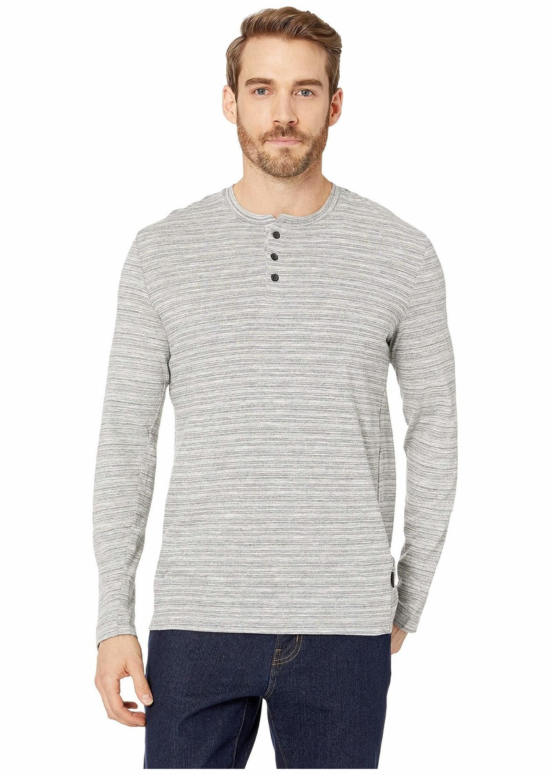Kenneth Cole Long Sleeve Space Dye Three-Button Henley