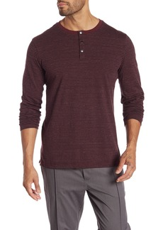 Kenneth Cole Long Sleeve Stripe Henley