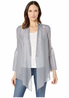 Kenneth Cole Long Sleeve Tie Front Blouse