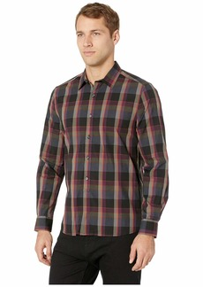 Kenneth Cole Long Sleeve Tonal Plaid Shirt