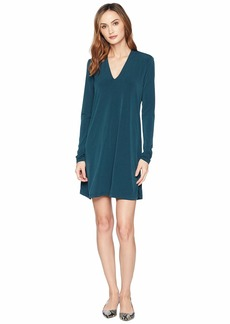 Kenneth Cole Long Sleeve V-Neck Dress
