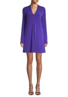 Kenneth Cole Long-Sleeve V-Neck Dress