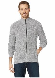 Kenneth Cole Long Sleeve Zip Mock Neck Sweater