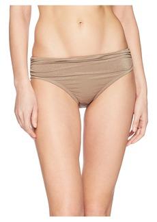 Kenneth Cole Lurex® Solids Shirred Hipster Bikini Bottom