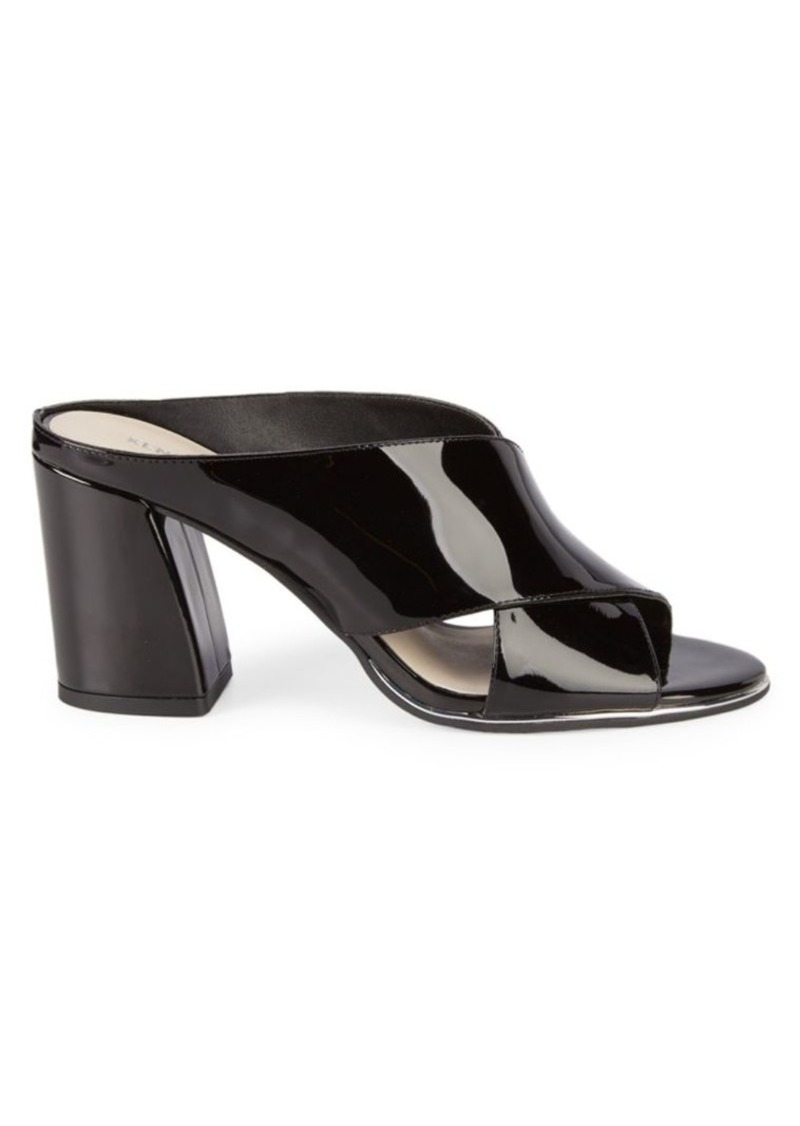 Kenneth Cole Lyra Patent Leather Mules