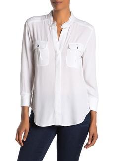 Kenneth Cole Mandarin Collar 3/4 Sleeve Shirt