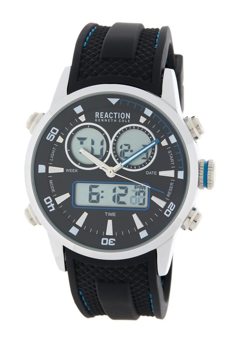 Kenneth Cole Men's Analog Digital Silicone Strap Watch, 40mm