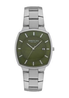 Kenneth Cole Men's Classic 3-Hand Silver-Tone Bracelet Watch, 36mm