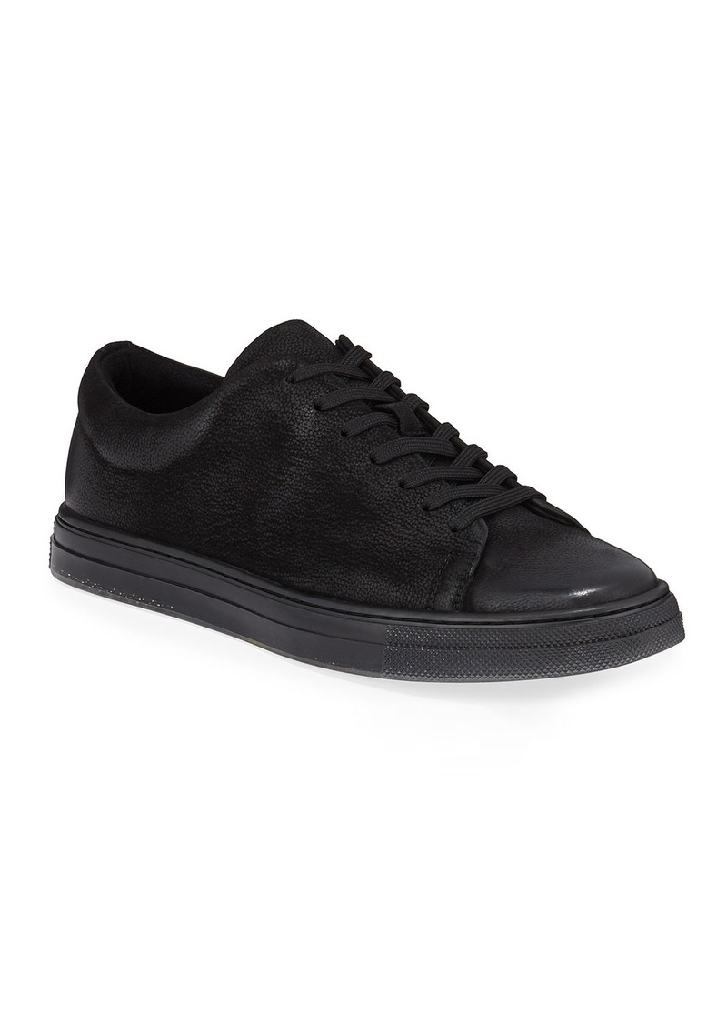 Kenneth Cole Men's Colvin Low-Top Leather Sneakers  Black