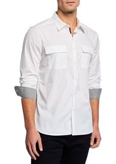 Kenneth Cole Men's Dynamic Long-Sleeve Sport Shirt