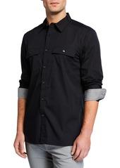 Kenneth Cole Men's Dynamic Long-Sleeve Sport Shirt