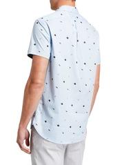 Kenneth Cole Men's Flip Flop-Print Short-Sleeve Shirt