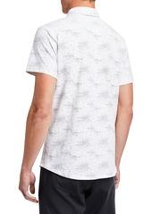 Kenneth Cole Men's Galaxy-Print Short-Sleeve Sport Shirt