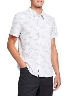 Kenneth Cole Men's Galaxy-Print Short-Sleeve Sport Shirt