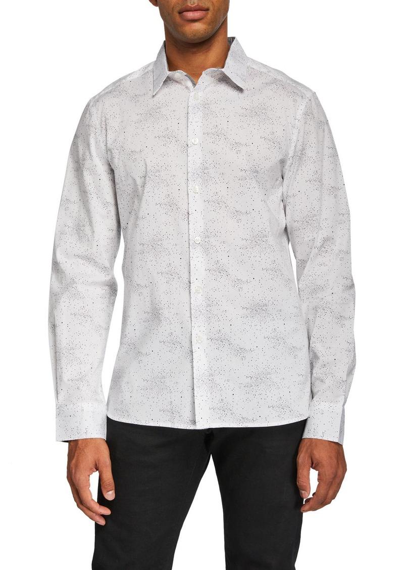 Kenneth Cole Men's Galaxy Print Sport Shirt