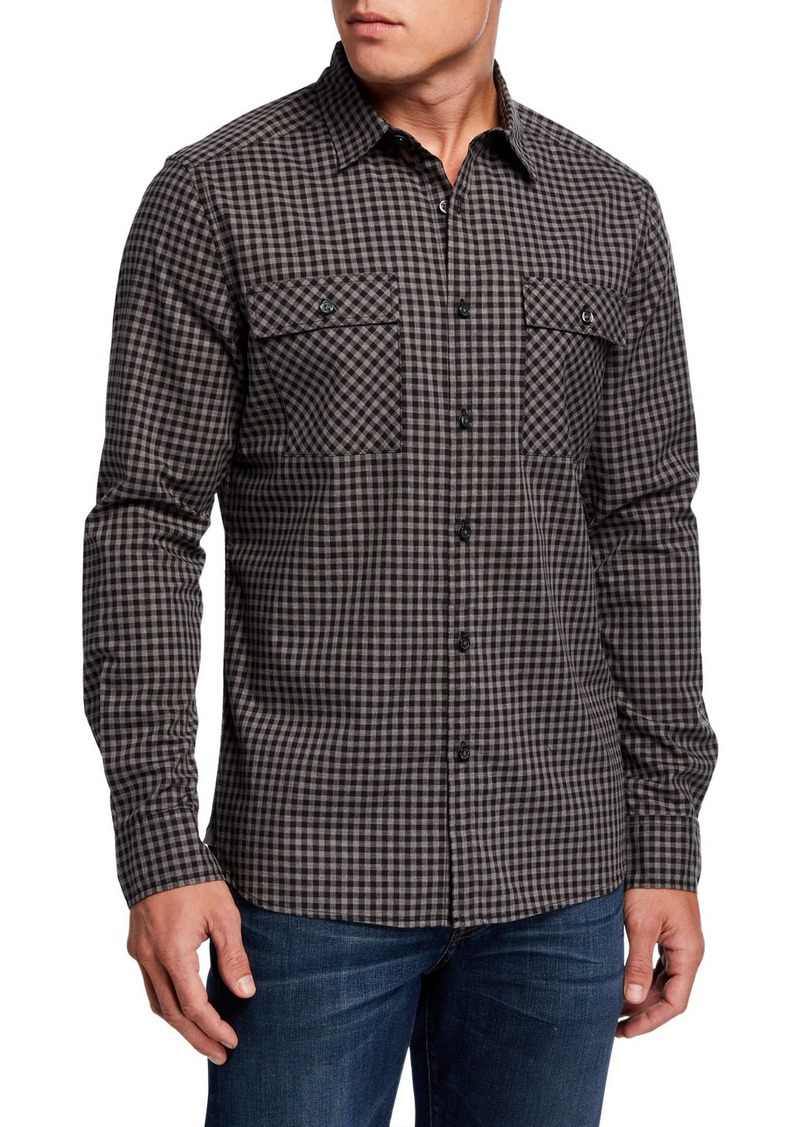 Kenneth Cole Men's Heather Gingham Sport Shirt