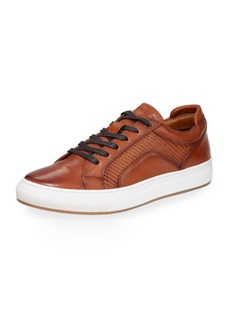 Kenneth Cole Men's Jovial Stitched Leather Sneakers