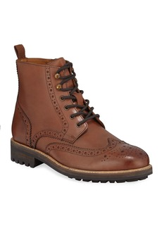 Kenneth Cole Men's Maraq Brogued Leather Lace-Up Boots