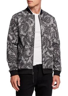 Kenneth Cole Men's Paisley Bomber Jacket