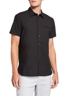 Kenneth Cole Men's Ripstop Short-Sleeve Sport Shirt