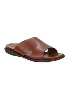 Kenneth Cole Men's Sandy Beach Leather Slide Sandals