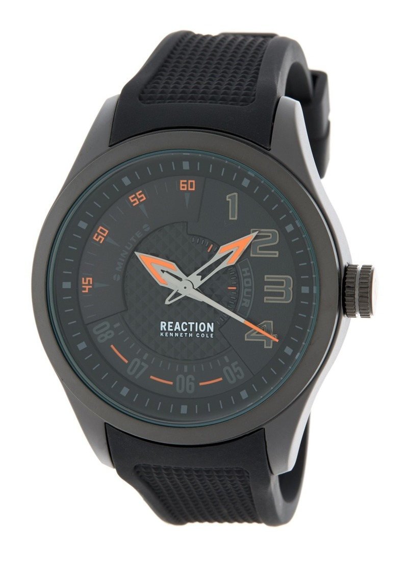 Kenneth Cole Men's Silicone Strap Watch, 47mm