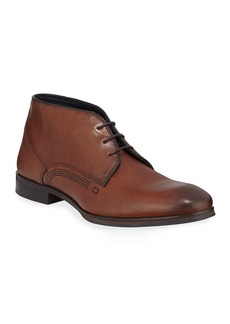 Kenneth Cole Men's Stamp Leather Ankle Boots