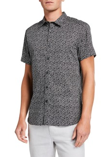 Kenneth Cole Men's Star-Print Short-Sleeve Button-Down Shirt