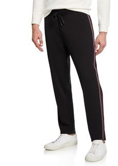 Kenneth Cole Men's Stripe Tape Track Pants