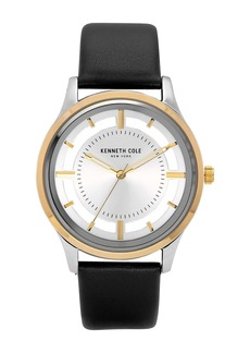 Kenneth Cole Men's Transparency Black Watch, 44mm