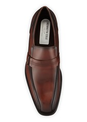 Kenneth Cole Men's Tyrie Textured Leather Loafers