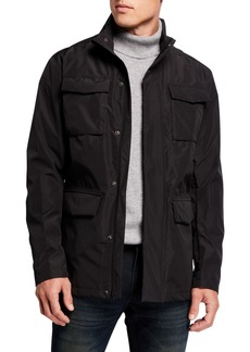 Kenneth Cole Men's Utility Fold-Out Hood Jacket