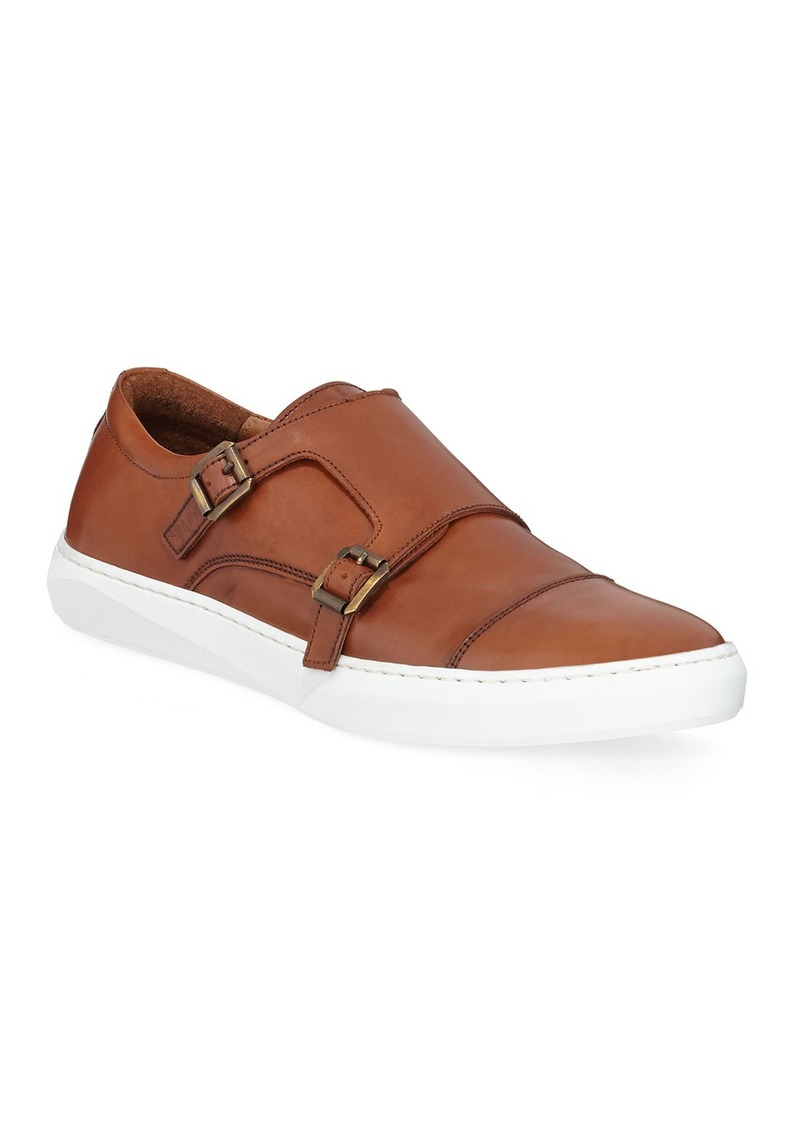 Kenneth Cole Men's Whyle Leather Monk-Strap Sneakers