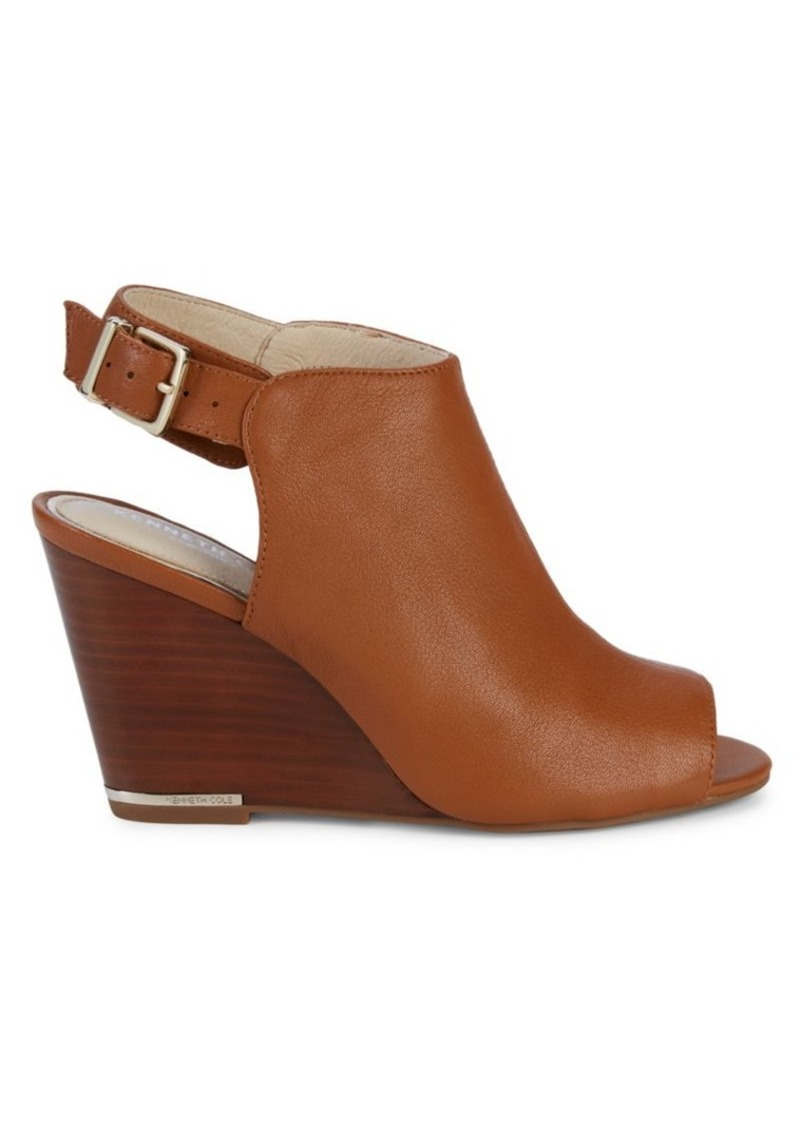 Kenneth Cole Merrick Leather Wedge Sandals
