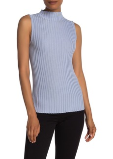 Kenneth Cole Ribbed Mock Neck Sweater Tank