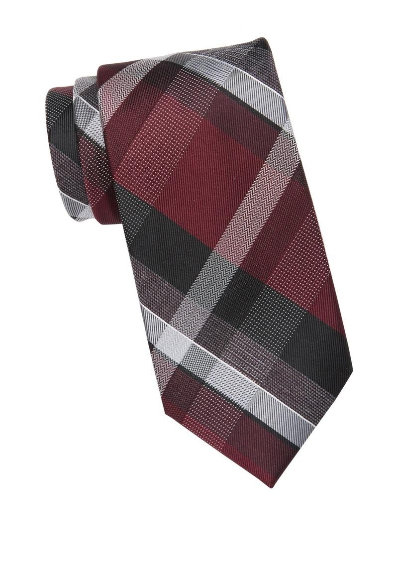 Kenneth Cole Modern Classic Plaid Tie