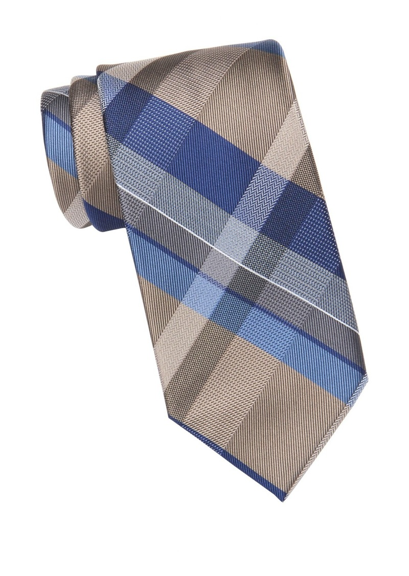 Kenneth Cole Modern Classic Plaid Tie