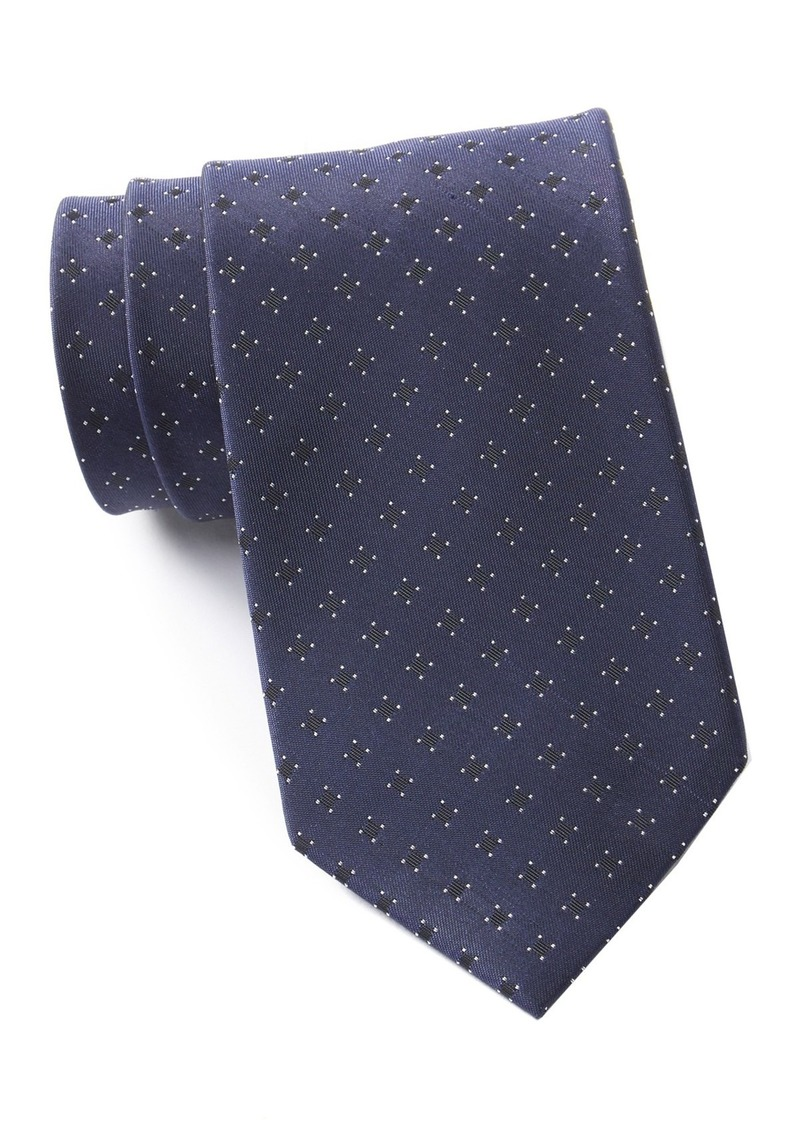 Kenneth Cole Open Square Geo Silk Blend Tie