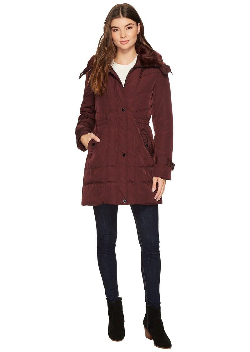 0f26baae55 Kenneth Cole Oxford Hooded Anorak w  Removable Faux Fur Collar ...