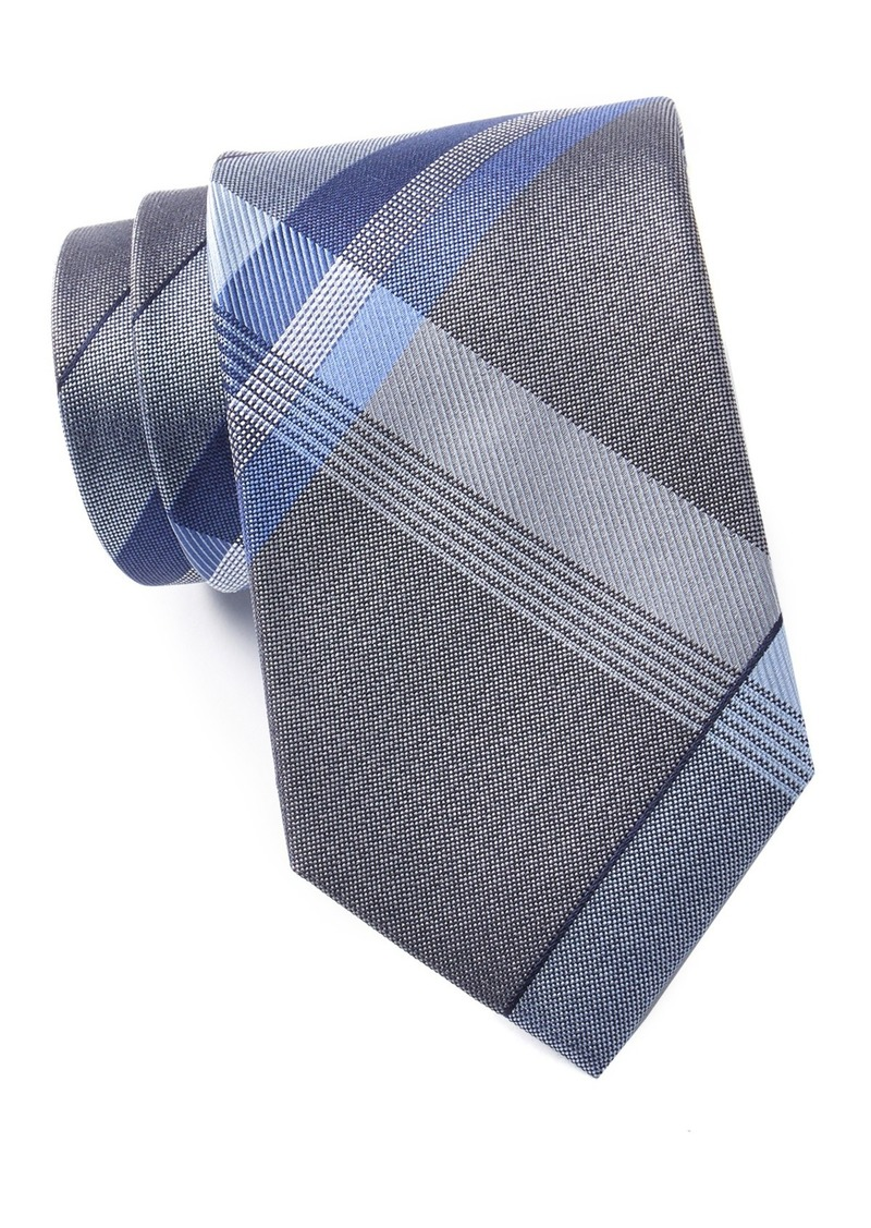 Kenneth Cole Parkway Plaid Silk Blend Tie