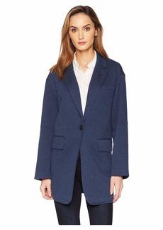 Kenneth Cole Pebble Jersey Oversized Jacket