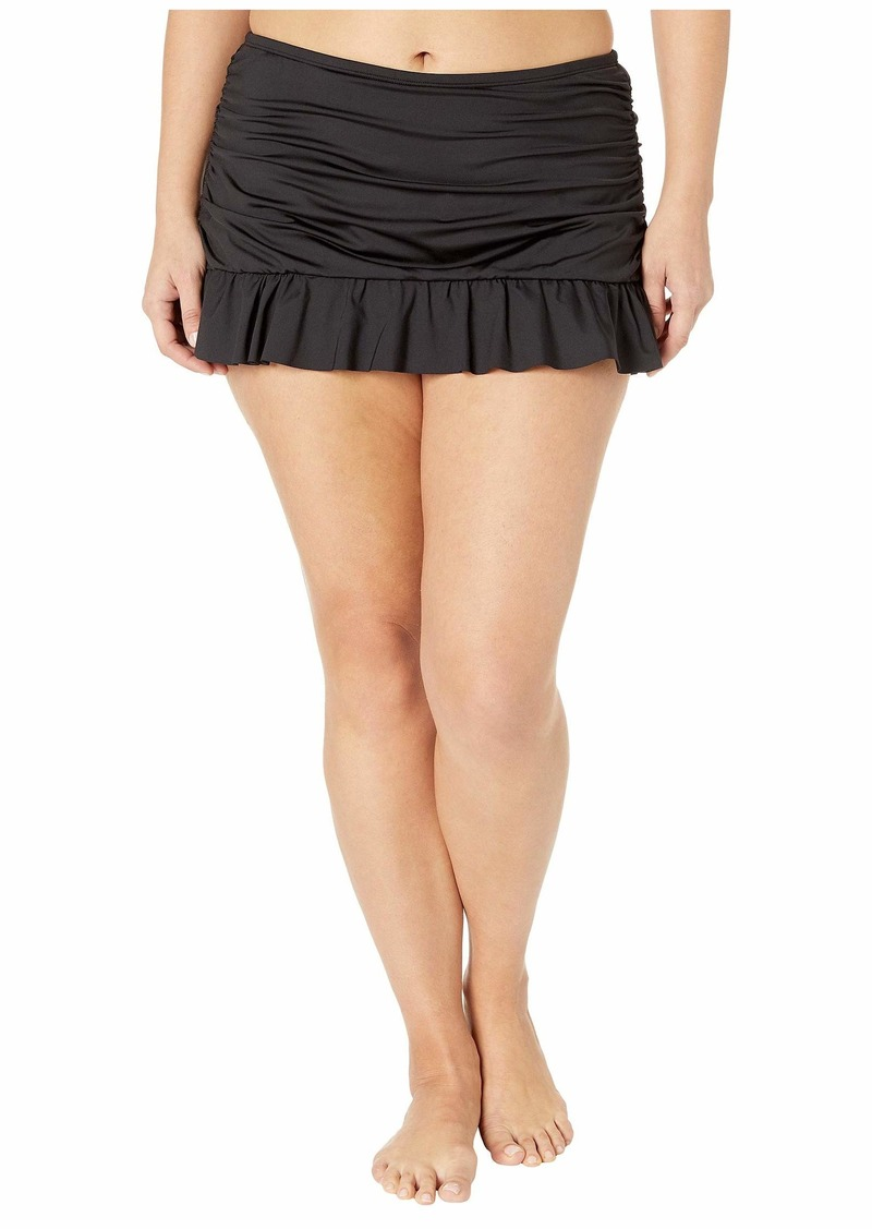 Kenneth Cole Plus Size Ruffle-Licious Ruched Skirt