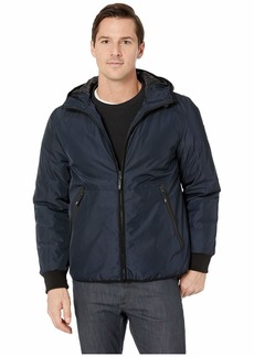 Kenneth Cole Poly Oxford Hooded Puffer