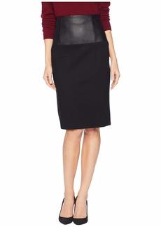 Kenneth Cole Ponte High-Waisted Skirt