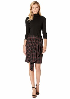 Kenneth Cole Ponte/Tartan Dress