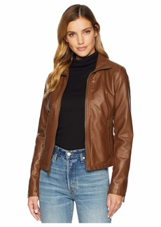 Kenneth Cole PU Zip Front Jacket