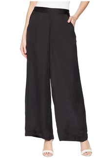 Pull-On Wide Leg Trousers