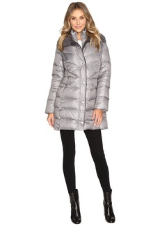 Kenneth Cole Quilted Coat with Sherpa Collar