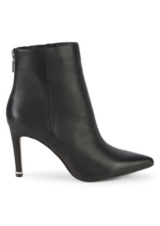 Kenneth Cole Raine Leather High-Heel Booties