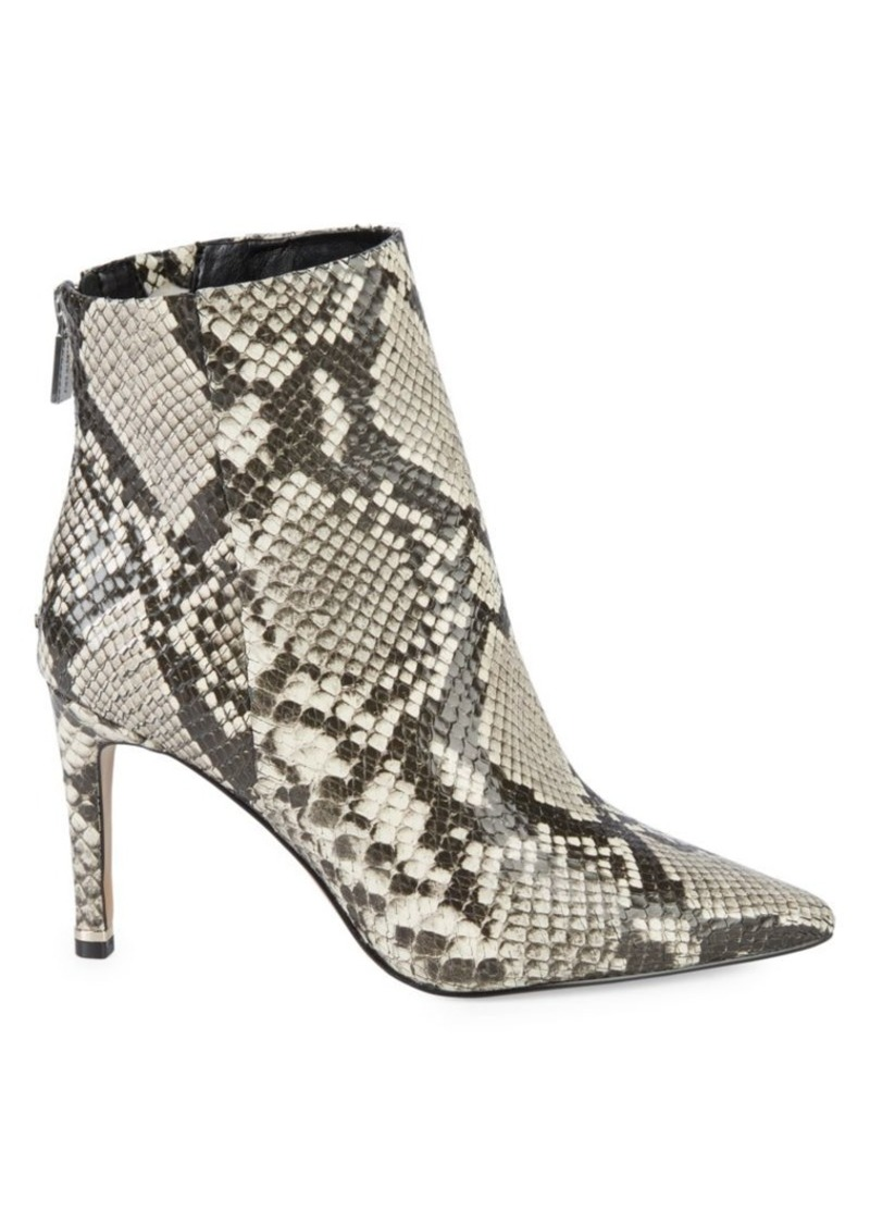Kenneth Cole Raine Snakeskin-Embossed Ankle Boots